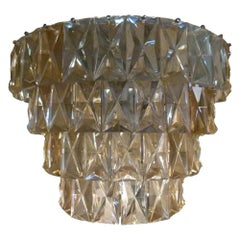 Late 19th Century Crystal and Bronze Spanish Pendant Lamp