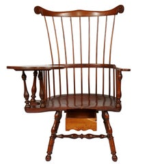 Late 19th-Early 20th Century Colonial Revival, Windsor Writing Armchair