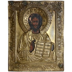 Late 19th Century Eastern Orthodox Icon of Christ the Teacher