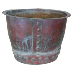Late 19th Century English 8 Gallon Riveted Copper