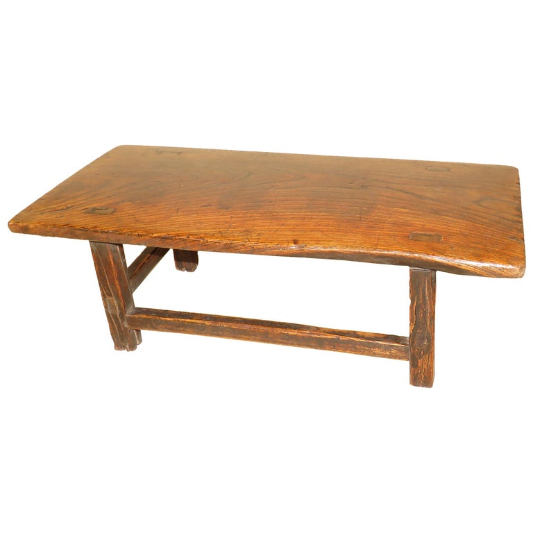 Late 19th Century English Elm Coffee Table