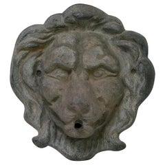 Late 19th Century English Lead Lion Fountain Head