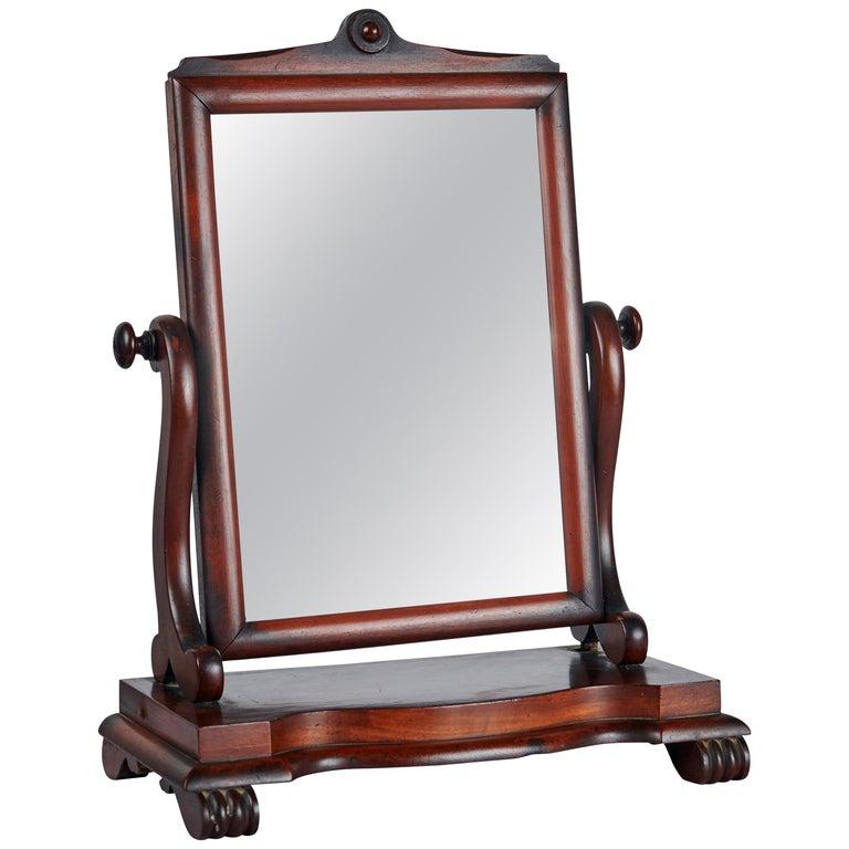 Late 19th Century, English Mahogany Gentleman's Shaving Mirror