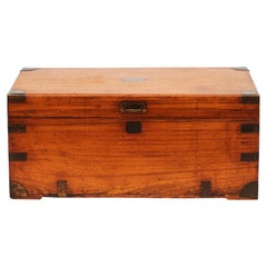 Late 19th Century English Military Camphor Wood Campaign Chest