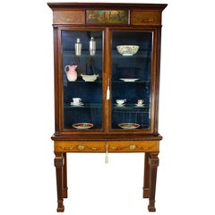 Late 19th Century English Neoclassical Display Cabinet