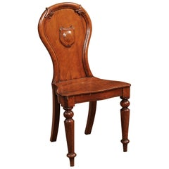 Late 19th Century English Oak Hall Chair