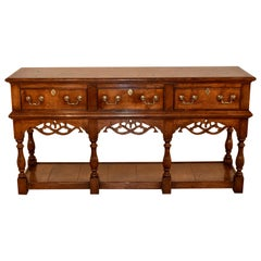 Late 19th Century English Oak Sideboard