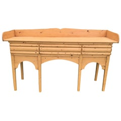 Late 19th Century English Pine Sideboard