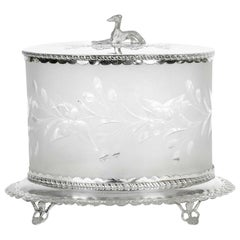 Late 19th Century English Plate / Cut Crystal Ice Bucket