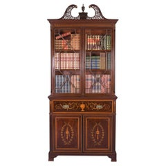 Late 19th Century English Secretaire Bookcase by Edwards & Roberts