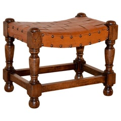 Late 19th Century English Swayed Stool