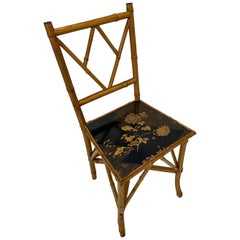 Late 19th Century English Victorian Bamboo Desk or Side Chair