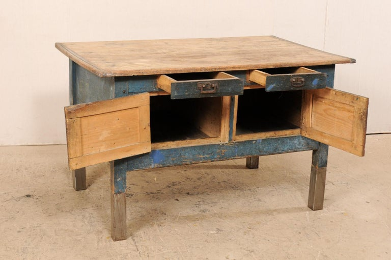 Late 19th Century European Table Top Cabinet with Great Storage 4
