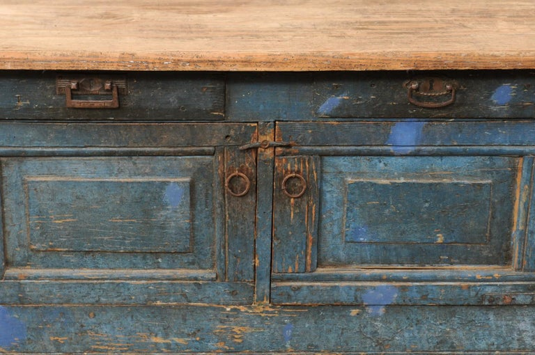 Late 19th Century European Table Top Cabinet with Great Storage In Good Condition In Atlanta, GA