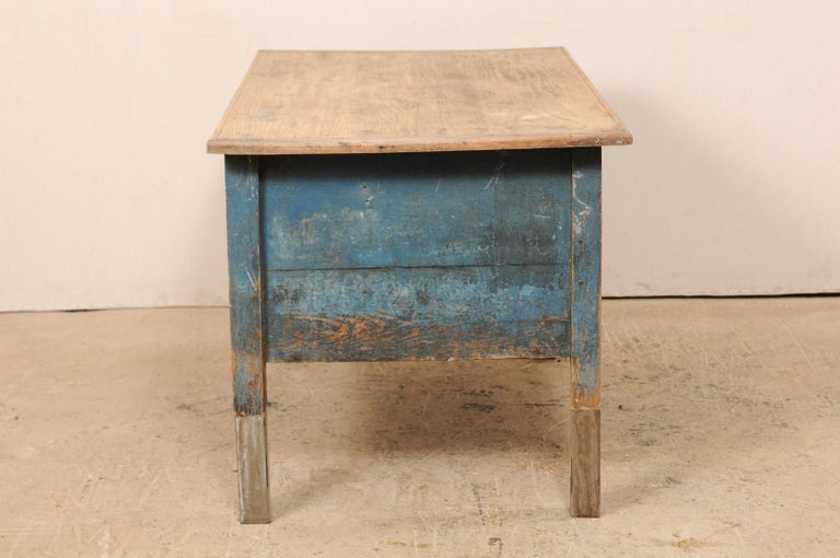 Metal Late 19th Century European Table Top Cabinet with Great Storage