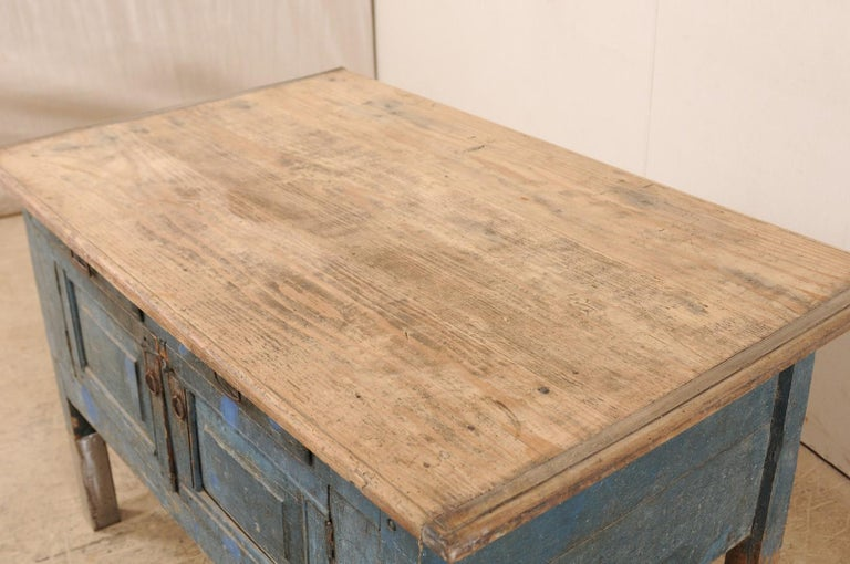Late 19th Century European Table Top Cabinet with Great Storage 3