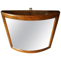 Late 19th Century Fairground Mirror in Golden Oak Frame