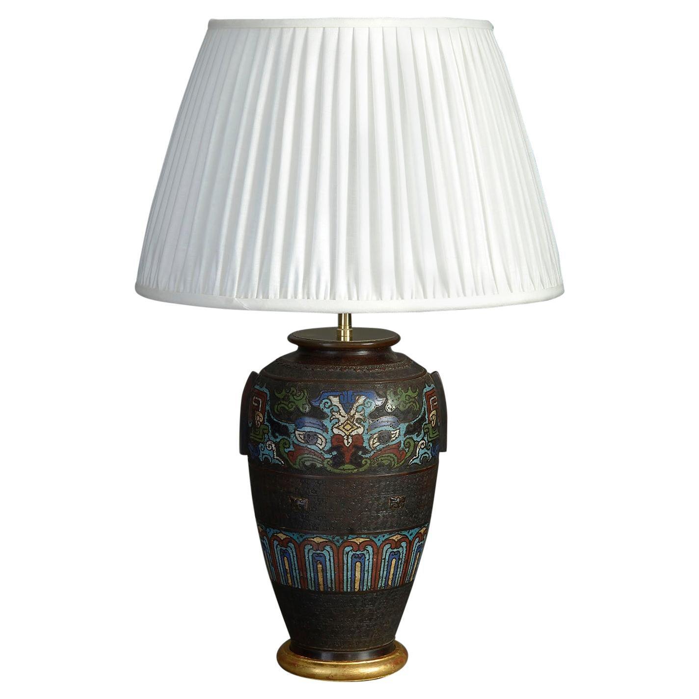 Late 19th Century Famille Noire Porcelain Vase