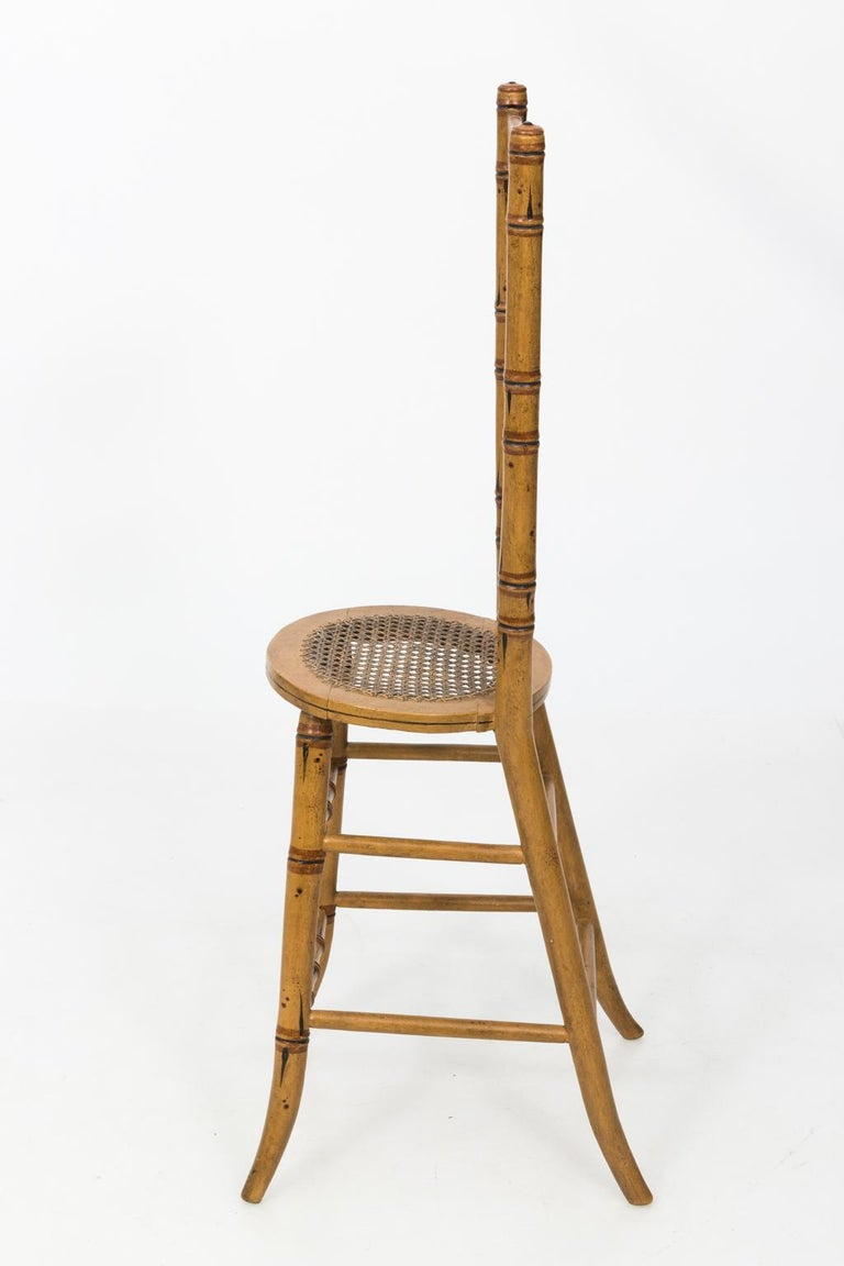 Late 19th Century Faux Bamboo Child's Chair In Good Condition For Sale In Stamford, CT