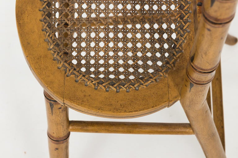 Wood Late 19th Century Faux Bamboo Child's Chair For Sale
