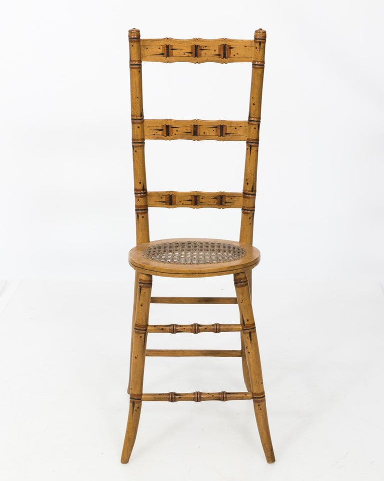 Late 19th Century Faux Bamboo Child's Chair For Sale 1