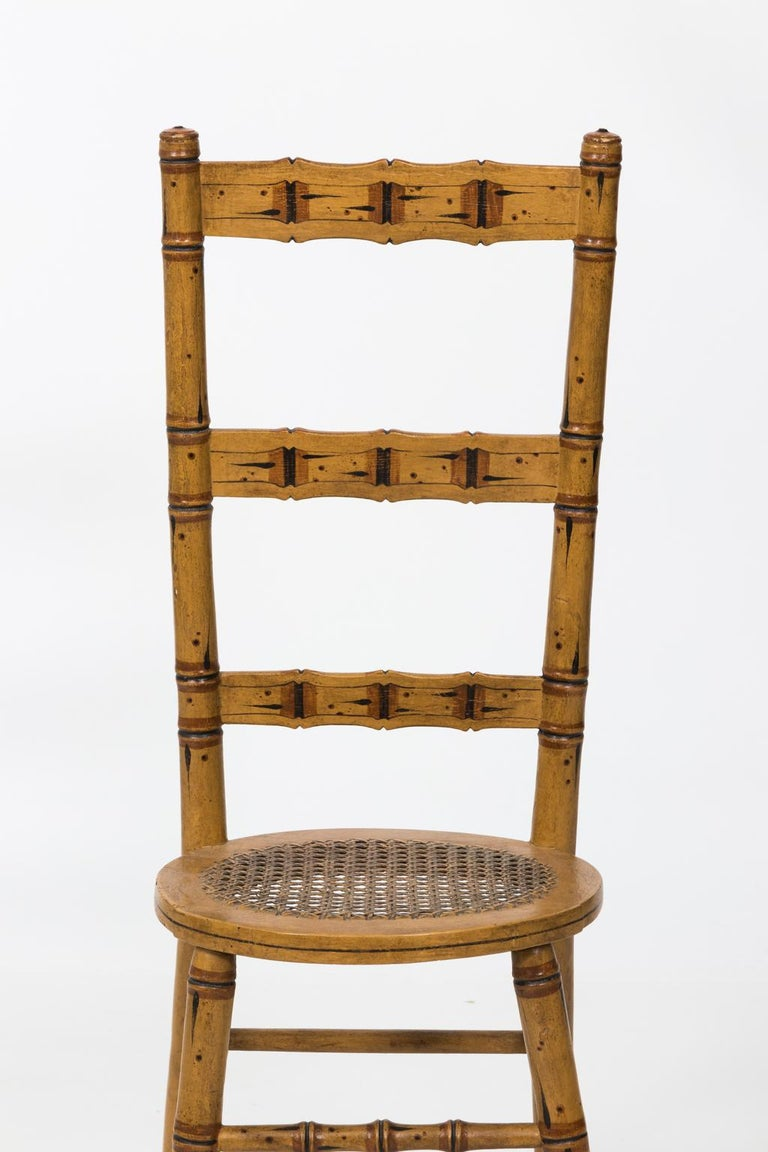 Late 19th Century Faux Bamboo Child's Chair For Sale 2