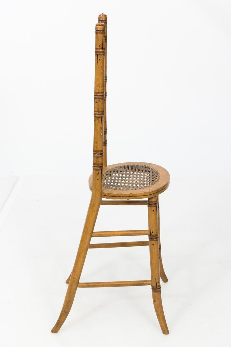 Late 19th Century Faux Bamboo Child's Chair For Sale 3