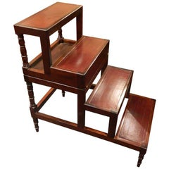 Late 19th Century Fold over Bed Step Ladder or Table