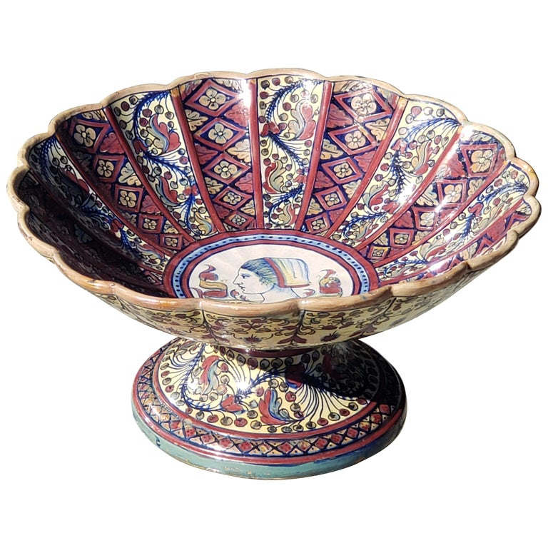 Late 19th Century Footed Bowl Attributed to Alfredo Santarelli For Sale