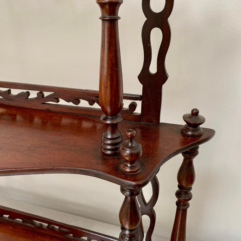 Late 19th Century Freestanding or Hanging Shelves in Mahogany For Sale 1