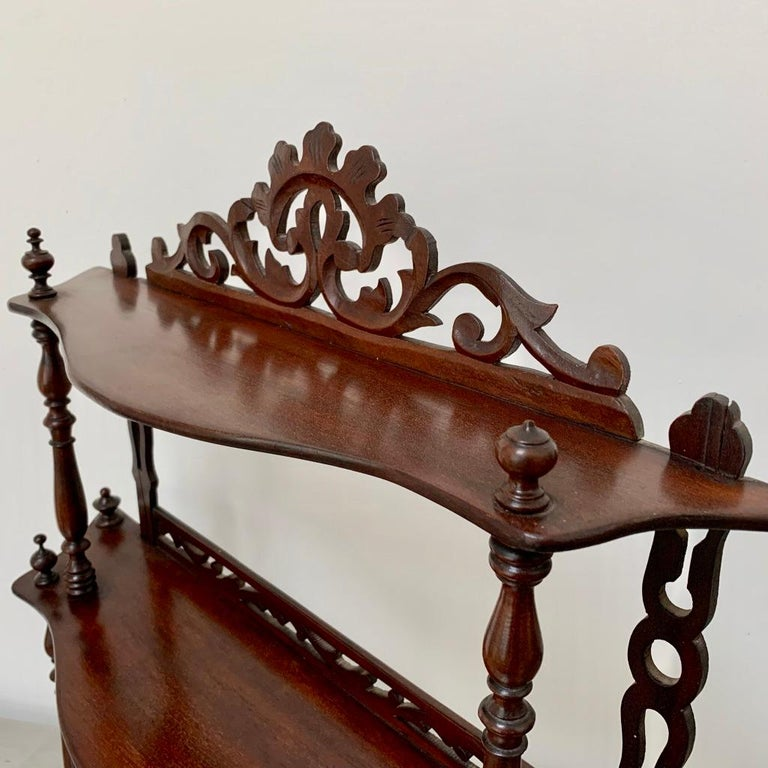 Late 19th Century Freestanding or Hanging Shelves in Mahogany For Sale 2