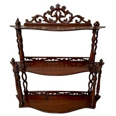 Late 19th Century Freestanding or Hanging Shelves in Mahogany