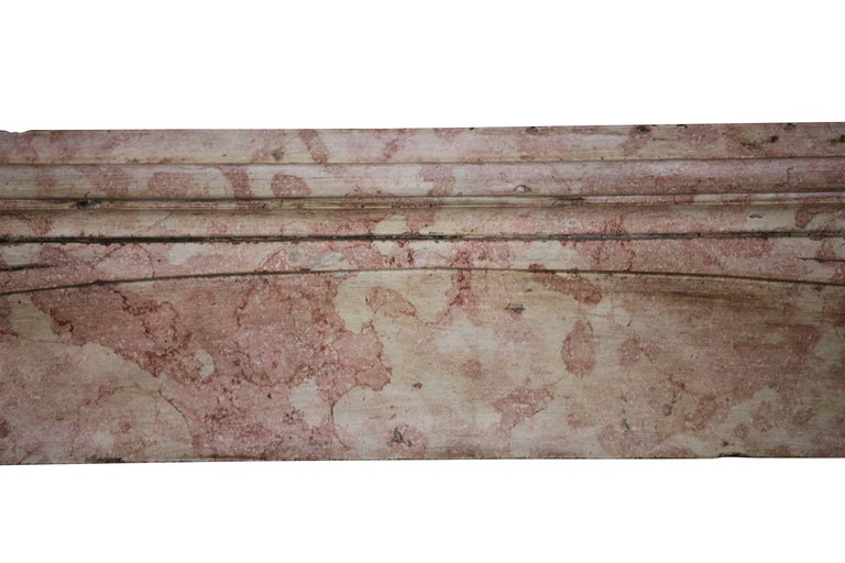 Art Nouveau Late 19th Century French Antique Fireplace Surround in Marble Stone For Sale