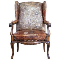 Late 19th Century French Art Nouveau Walnut Armchair