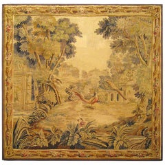 Late 19th Century French Aubusson Landscape Tapestry