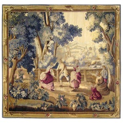 Late 19th Century French Aubusson Rustic Tapestry