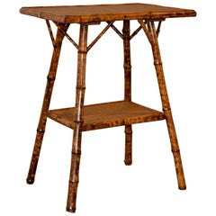 Late 19th Century French Bamboo Side Table