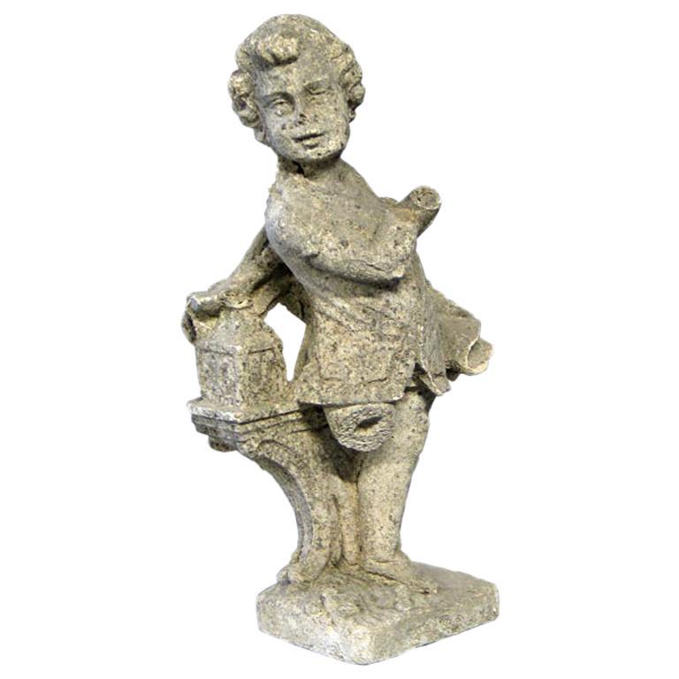 Late 19th Century French Belle Époque Romantic Garden Sculpture For Sale
