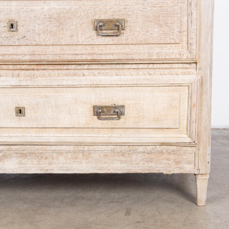 Late 19th Century French Bleached Oak Chest of Drawers For Sale 4
