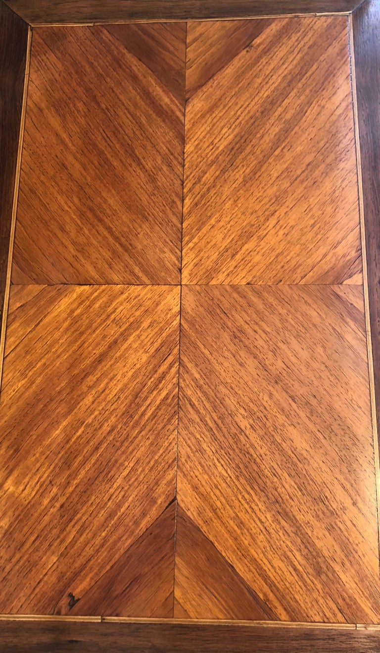 Late 19th Century French Bonheur De Jour with Parquetry Rosewood Inlay For Sale 1