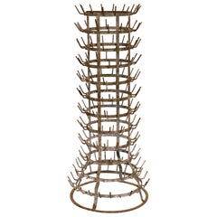 Late 19th Century French Bottle Drying Rack