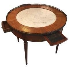 Ende des 19. Jahrhunderts französische Bouillotte Tisch mit Marmorplatte, 1920