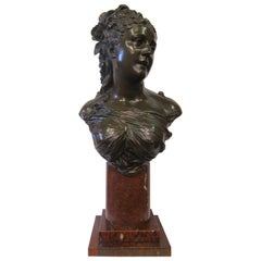 Late 19th Century French Bronze Bust by Pierre Louis Detrier