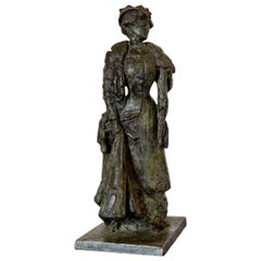 Late 19th Century French Bronze Figure by P. Moreau-Vauthier