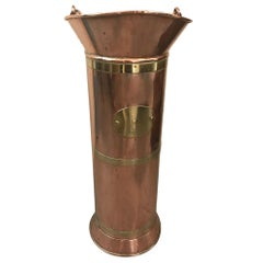 Late 19th century French Copper Water Measurement Can