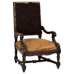 Late 19th Century French Deconstructed Upholstered Armchair