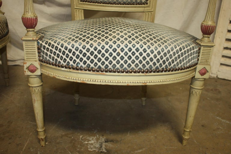 Late 19th Century French Directoire Style Pair of Armchairs For Sale 6