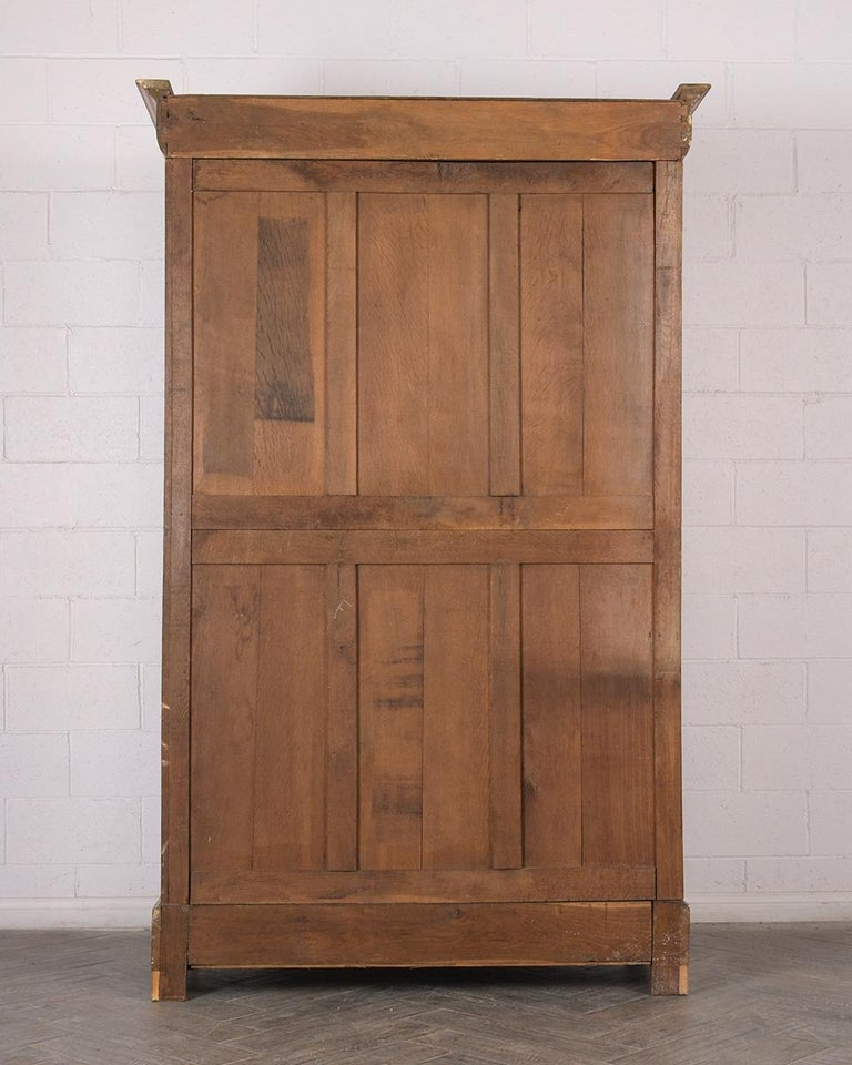 Late 19th Century French Empire Style Burled Armoire For Sale 5