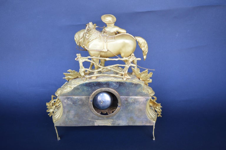 Late 19th Century French Gilt and Ormulu Mantel Clock For Sale 1