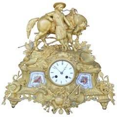 Late 19th Century French Gilt and Ormulu Mantel Clock